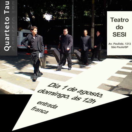 Quarteto TAU - Teatro do SESI