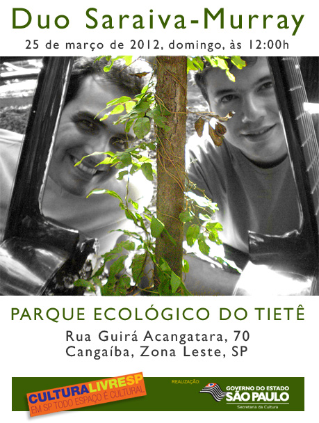 Duo Saraiva-Murray no Parque Ecológico do Tietê