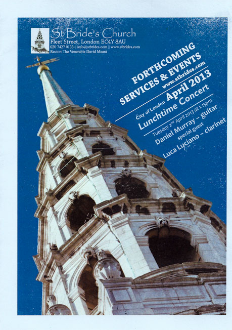 St Brides's Church concerto 2 de abril de 2013
