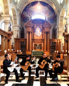 "June 4th, ¨Quarteto Tau¨ at ""St Brides Church"" - London"